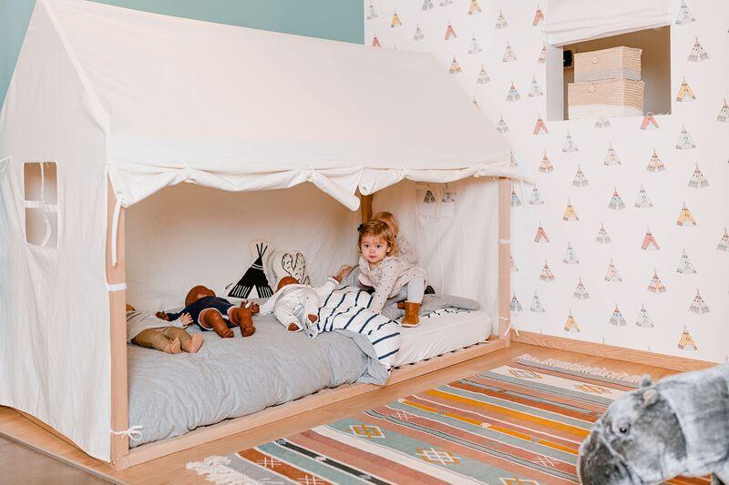 Toile pour lit Cabane 90 x 200 cm Chiledhome Enfant