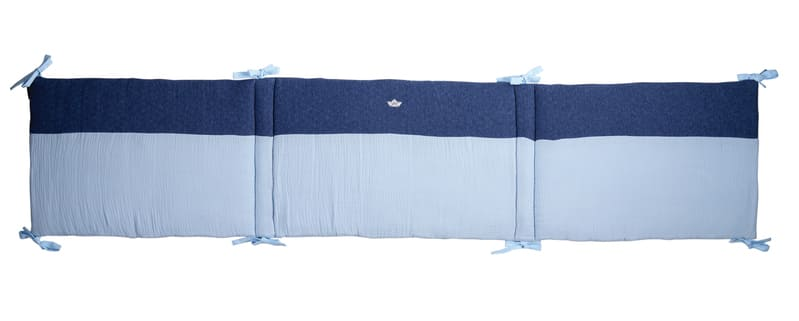 Tour de lit jersey matelassé Bleu Candide 1