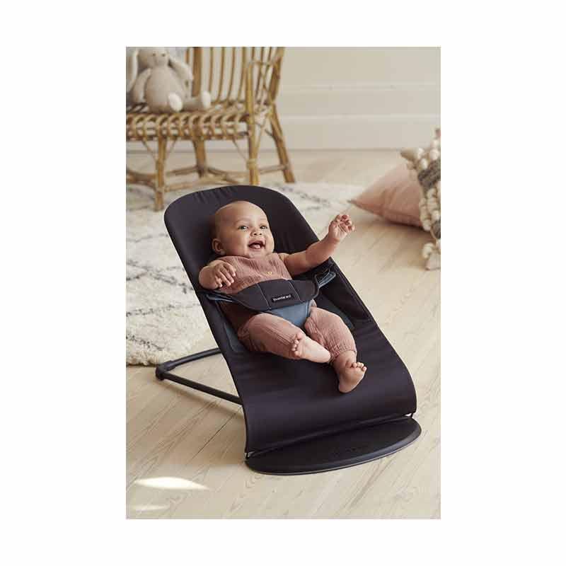 Transat Balance Soft Coton Noir/ Gris foncé Babybjorn produit