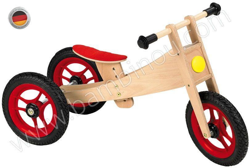 Tricycle draisienne 1 in 2 bike Geuther BamBinou