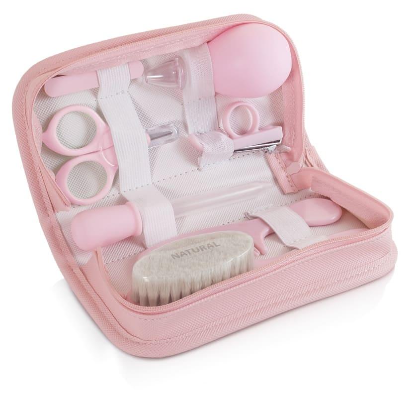Trousse de soin baby kit rose Miniland dans la trousse