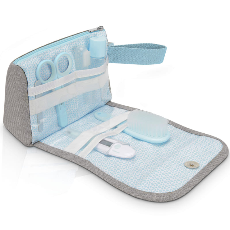 Trousse de soin compacte Bleu/Gris Babymoov Ouvert