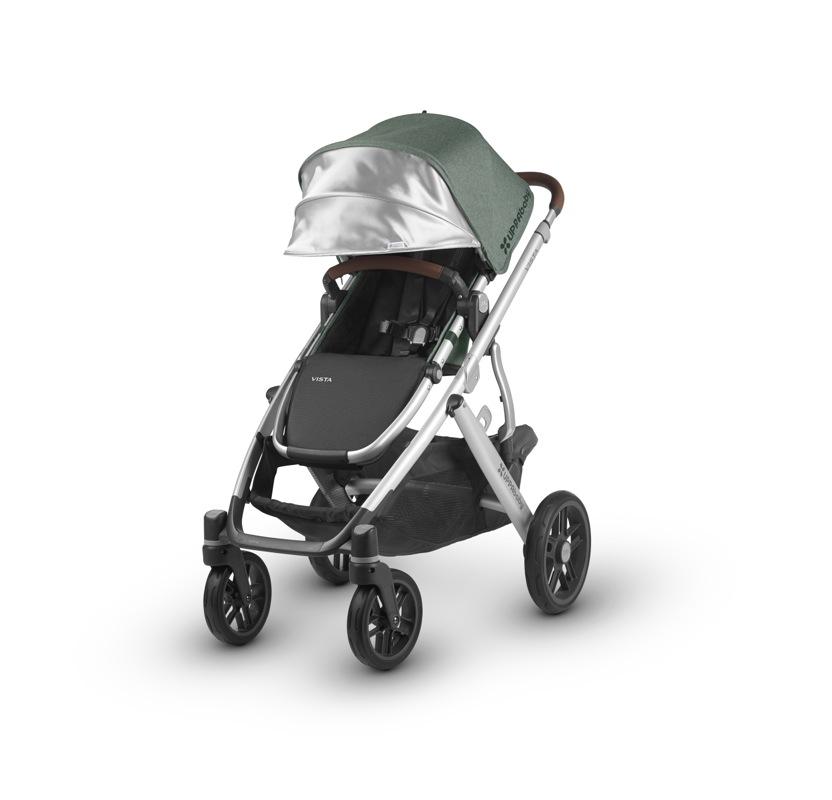 Poussette Vista 2018 avec nacelle 1 ou 2 enfants poussette seule Emmet Uppababy Bambinou