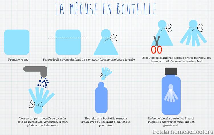 Bouteille méduse bouteille sensorielle